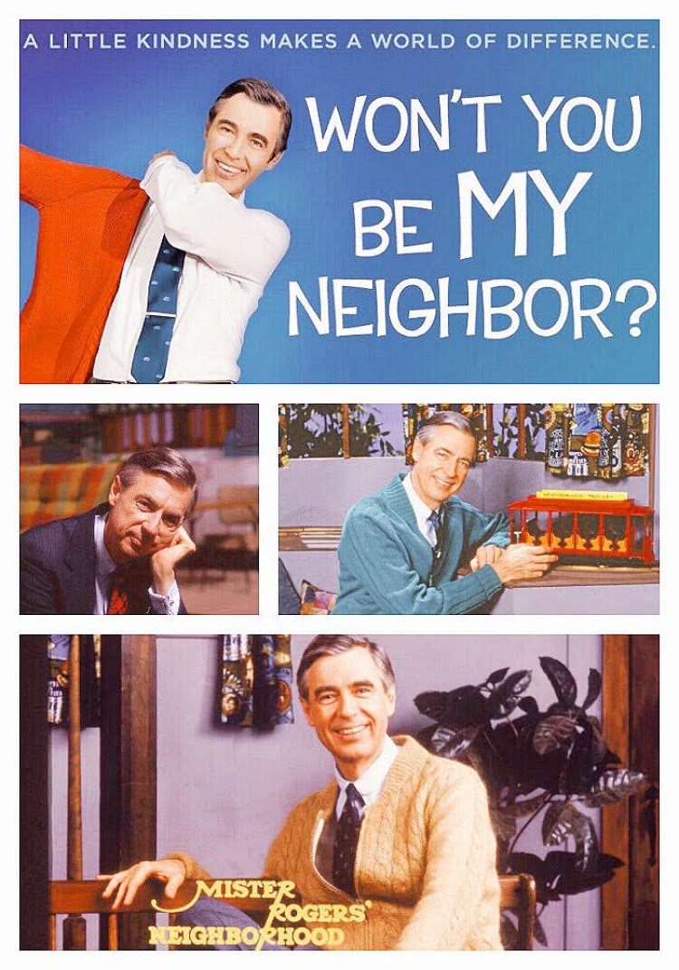 A Vintage Nerd Vintage Blog Mr Rogers Neighborhood Classic TV PBS Children's Programming Red Beret Angelika Movie Theater Mr Rogers Documentary
