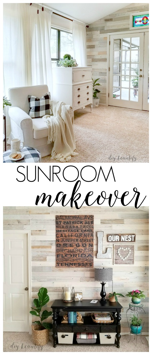 sunroom makeover and reveal by diy beautify