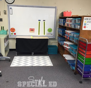 Teaching Special Thinkers gives some terrific tips for setting up your special education classroom and says using structured work systems is key.