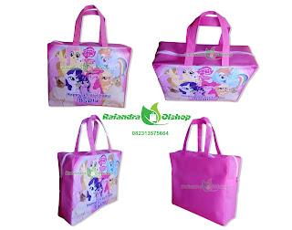 tas ultah anak little pony, tas souvenir ultah little pony, tas ultah lottle pony murah, tas ulang tahun murah.