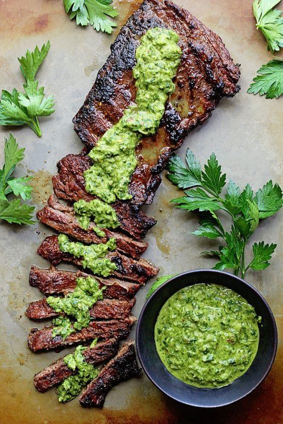 Skirt Steak Marinade Recipe with Chimichurri
