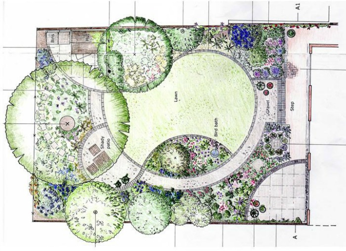 10 dise os para jardines peque os guia de jardin for Planos de jardines