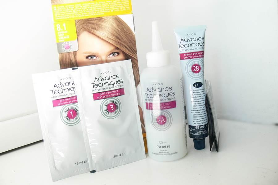 farba Avon Advance Techniques Średni Popielaty Blond 8.1 zestaw