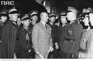 Wyjazd Wieniawy do Rzymu jako ambasador Polski 1938