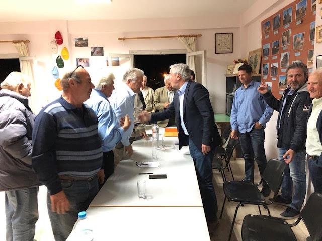 Ο Γ. Μανιάτης με τους αγρότες των ΤΟΕΒ σε Ίρια και Νέα Τίρυνθα