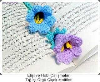 Tığ işi Örgü Çiçek Motifleri 5