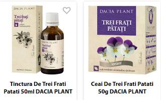 Cumpara de aici produse naturale din planta medicinala Trei frati patati