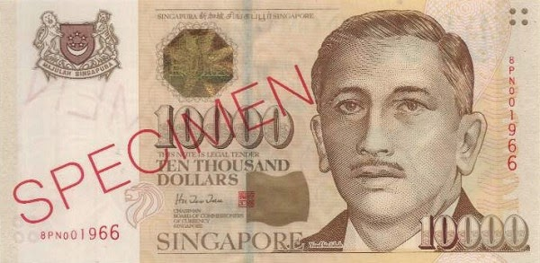 Singapore 10000 dollars