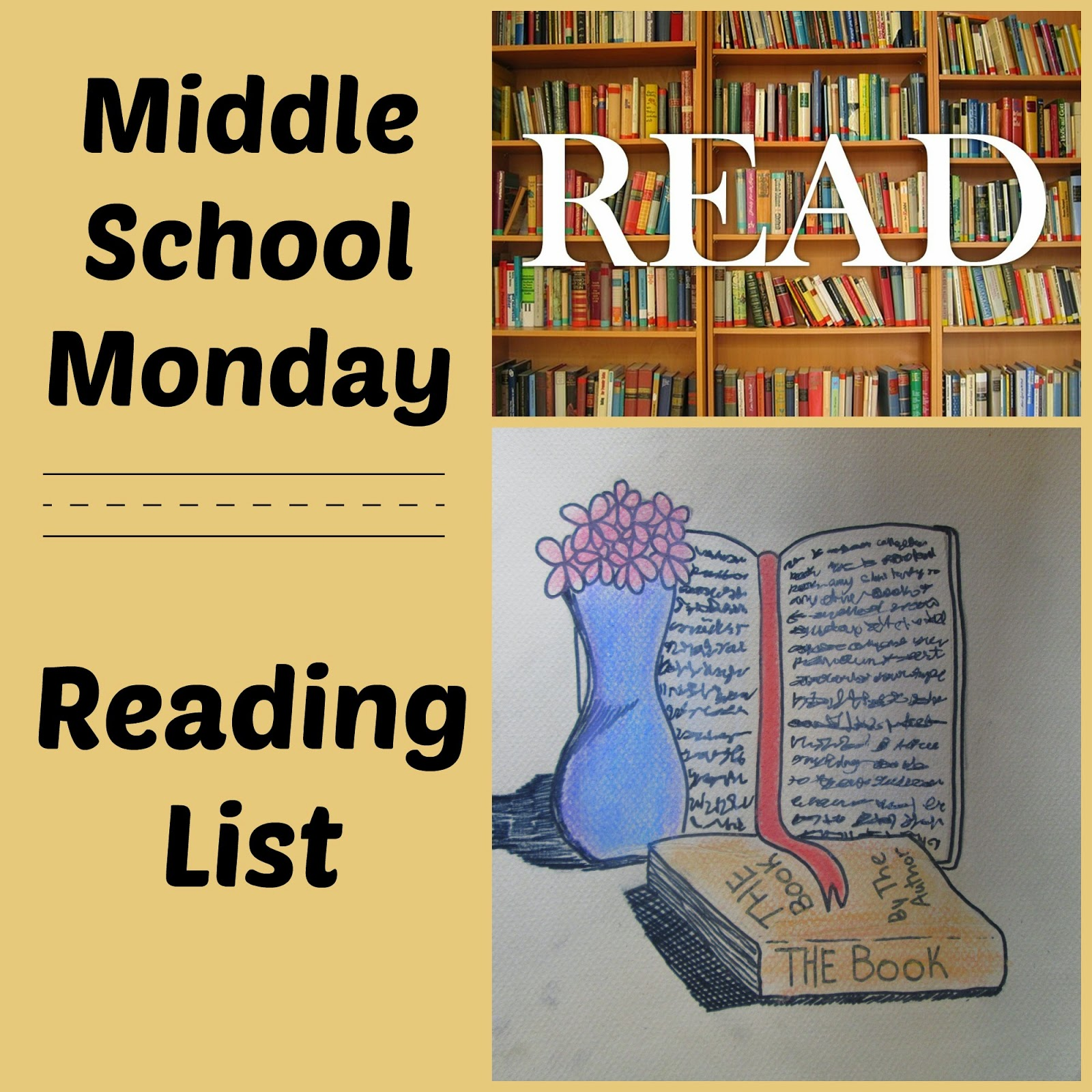 Middle School Monday Reading List @ kympossibleblog.blogspot.com