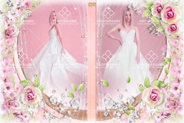 Plantilla para portada de DVD para 15 años o bodas