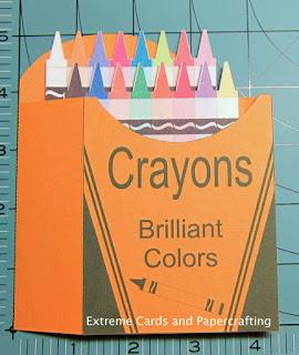 adhere crayon box card front