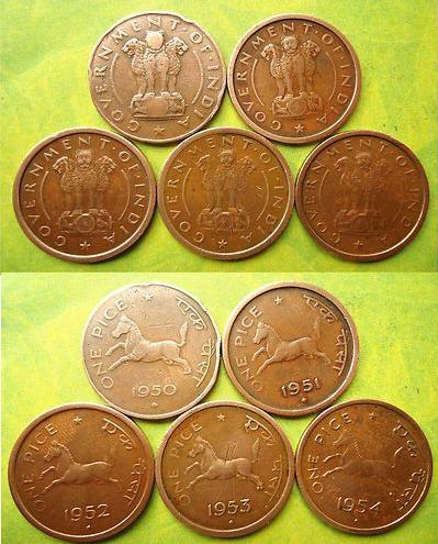 Anna Pice Series Coins Of Republic Of India Sanoj Coins