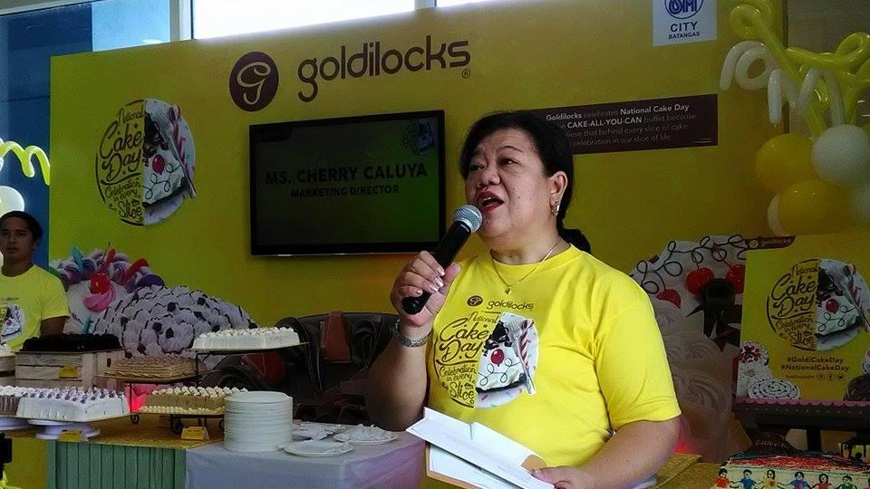 Lemon GreenTea: Goldilocks celebrates National Cake Day!