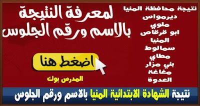 نتيجة الشهادة الابتدائية محافظة المنيا 2017 بالاسم ورقم الجلوس