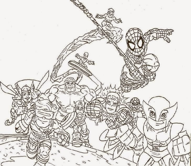 super hero squad coloring pages free coloring pages