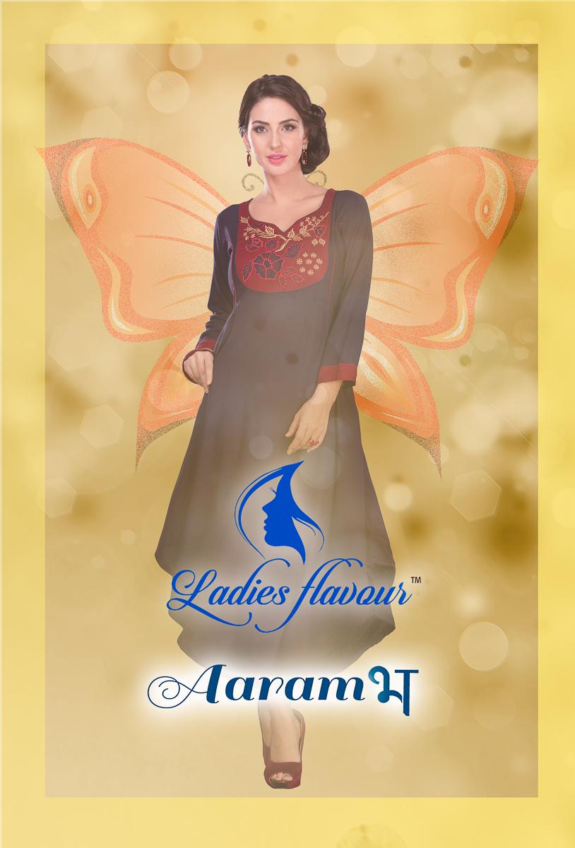 Aarambh-New Arrival Designer 14 kg Heavy Rayon Slub Kurti