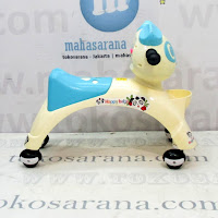 Ride On Car Happy Baby Panda Cream Blue