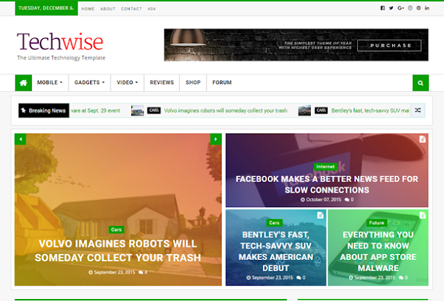 Techwise responsive magazine blogger template