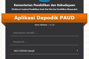 Rilis Aplikasi Dapodik PAUD untuk Tahun Ajaran 2017/2018 Semester 1