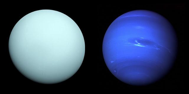 Foto planet Uranus dan Neptunus