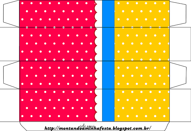 Red, Light Blue and Yellow Free Printable Box.