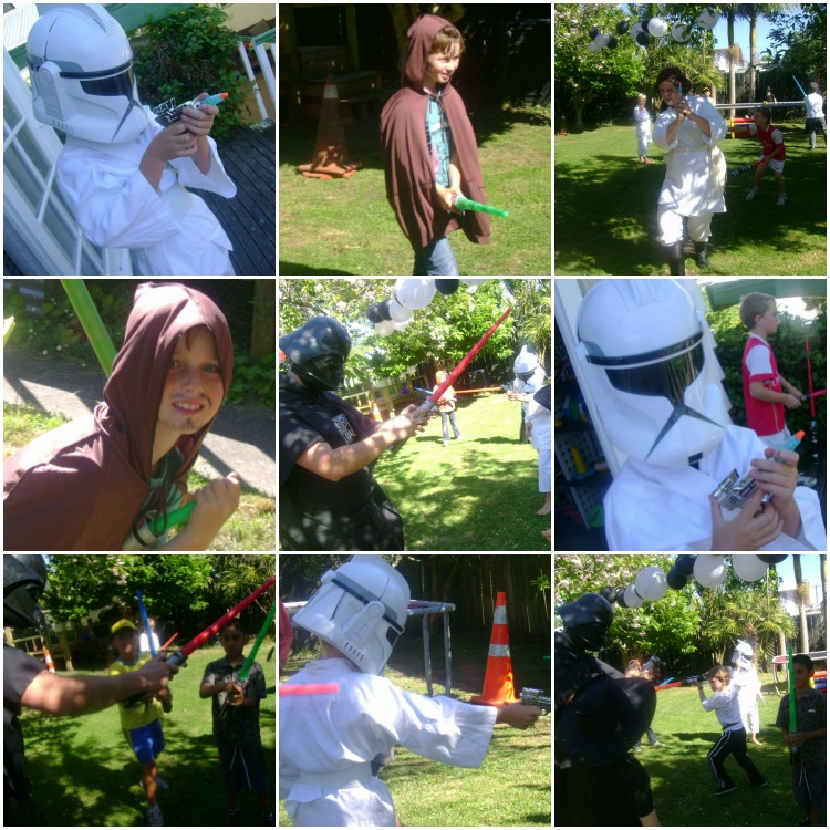 Star Wars Battles on the back lawn