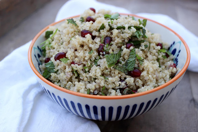 jewelled herby quinoa