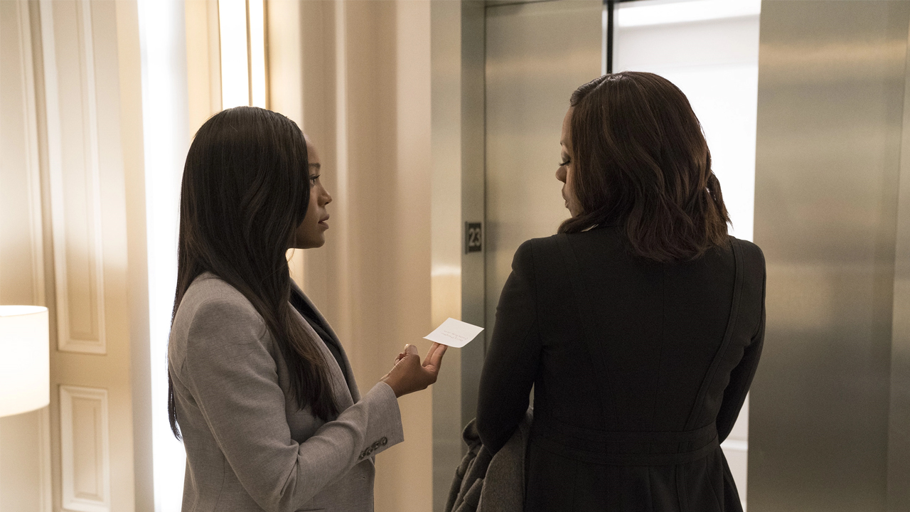 Fotografía de Annalise y Michaela en 'How to Get Away with Murder'