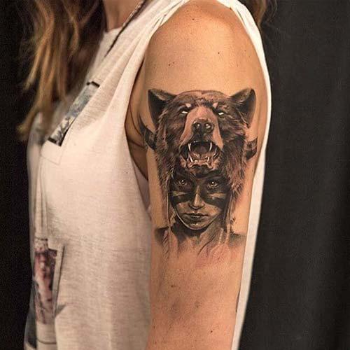 kadın üst kol dövme modelleri woman upper arm tattoos 3