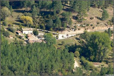 Vista aérea del Pabellón de Caza del Parque