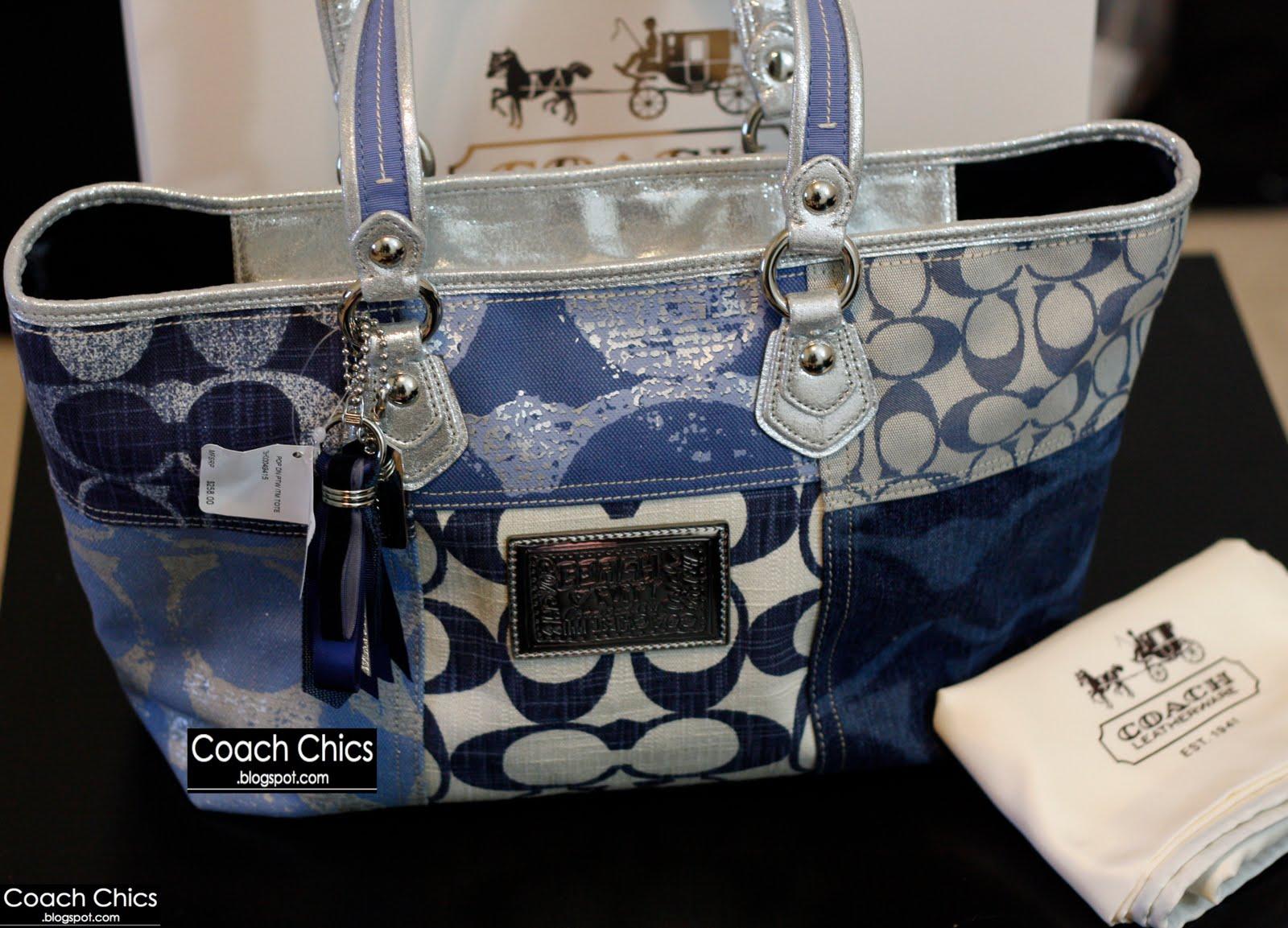 Coach Signature Denim Handbags Ahoy Comics