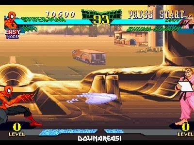 download marvel super heroes vs street fighter psx iso