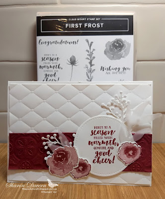 First Frost, Tin Tile DTIEF, Tufted TIEF, Heart of Christmas, Christmas Card, Rhapsody in craft, Art with heart