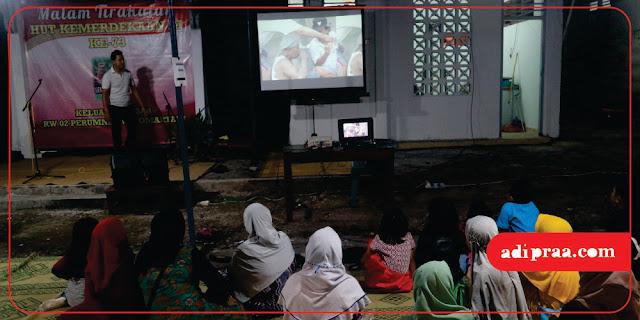 Pemutaran film bertemakan perjuangan | adipraa.com