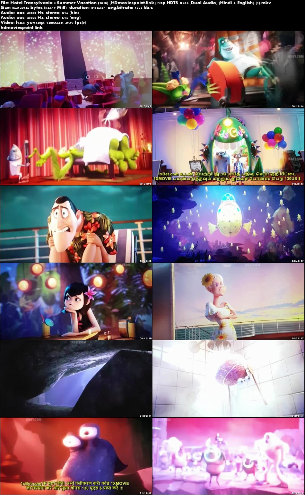 screen shot Hotel Transylvania 3 Summer Vacation 2018 Full Movie Download Dual Audio