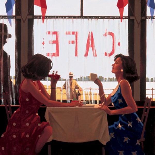 Dias no Café - Jack Vettriano e suas pinturas cheias de encontros íntimos