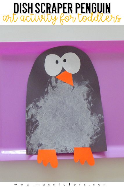 Penguin week wouldn't be complete without some penguin crafts. This adorable penguin using something other than a paintbrush to create his white tummy. Hop over to find out a fun way to engage your little one with this cheap painting activity for kids.