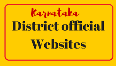 District_Official_Websites_list_of_Government_of_Karnataka