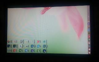Laptopun ekranı yan döndü