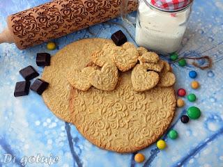 Kruche ciasteczka ze wzorem