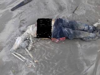 Rangka Manusia Ditemui Di Pantai Sungai Cina, Lundu