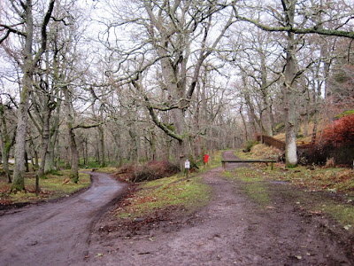 Deeside Walks: the carpark for the trail around Ballater Golf Course