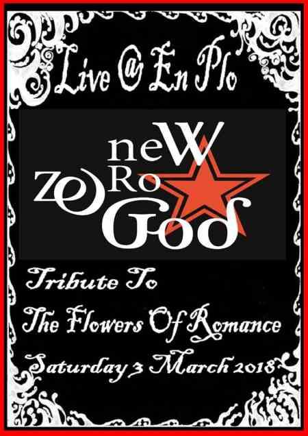 NEW ZERO GOD: Σάββατο 3 Μαρτίου @ Εν Πλω Café (Αγρίνιο) με τραγούδια των Flowers of Romance