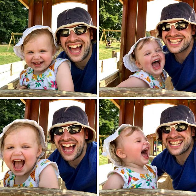 Godstone Farm, Surrey Review - Happy Connie and Daddy