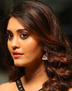 Tollywood Actress Surbhi Beautiful Earring Face Closeup Pictures (6)