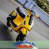 Sơn xe Vespa LX phong cách Gallado màu vàng đen
