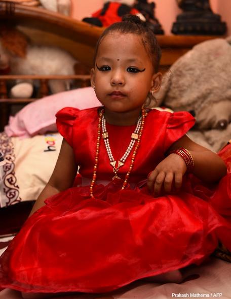 Trishna Shakya, bocah yang disembah