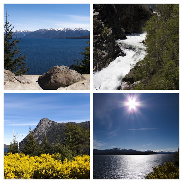 Day trip from Bariloche: collage of lake views along the Ruta de Siete Lagos