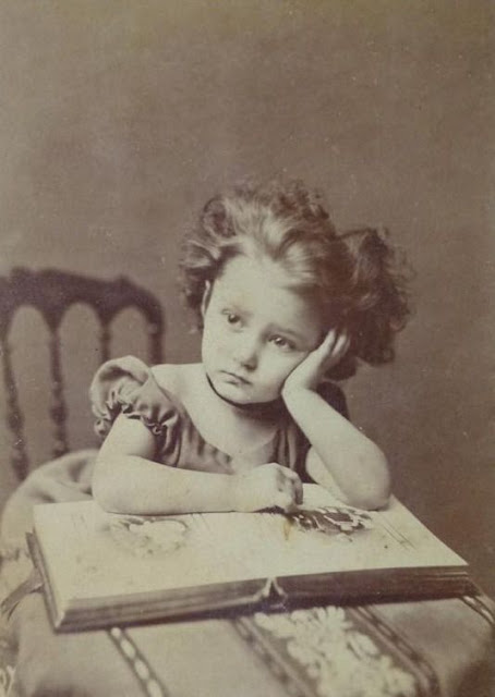 vintage photo of bored child