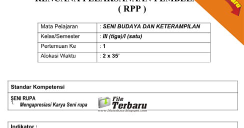 Download Rpp Sbk Ktsp Jenjang Sekolah Dasar Sd Kelas 1 Kelas 2 Kelas 3 Kelas 4 Kelas 5 Kelas 6
